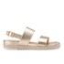 Dune Women's Lacrosse Leather Sling Back Espadrille Sandals - Gold: Image 1