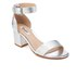 Dune Women's Jaygo Barely There Blocked Heeled Sandals - Silver Reptile: Image 2