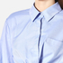 T by Alexander Wang Women's Cotton Twill Twist Front Long Sleeve Shirt - Chambray: Image 4