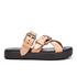 Alexander Wang Women's Kris Leather Double Strap Slide Sandals - Black/Natural: Image 1