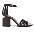 Alexander Wang Women's Cage Abby Leather Block Heeled Sandals - Black: Image 1