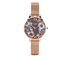 Olivia Burton Women's Poppy Flower Rose Gold Mesh Watch - Rose Gold: Image 1