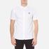 Pretty Green Men's Short Sleeve Oldbury Oxford Shirt - White: Image 1