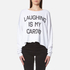 Wildfox Women's Laughing is My Cardio Sweatshirt - Clean White: Image 1