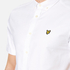 Lyle & Scott Men's Short Sleeve Oxford Shirt - White: Image 4