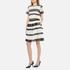 MICHAEL MICHAEL KORS Women's Stripe Lace Full Skirt - Black: Image 2