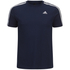 adidas Men's Essential 3 Stripe T-Shirt - Navy: Image 1