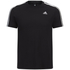 adidas Men's Essential 3 Stripe T-Shirt - Black: Image 1