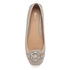 MICHAEL MICHAEL KORS Women's Fulton Leather Ballet Flats - Pearl Grey: Image 3