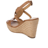 MICHAEL MICHAEL KORS Women's Darien Wedged Sandals - Cashew: Image 4