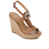 MICHAEL MICHAEL KORS Women's Darien Wedged Sandals - Cashew: Image 2