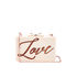 Ted Baker Women's Siann Glitter Word Resin Clutch Bag - Natural: Image 1