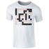 Men's Choose Life Career Job Family Crossword T-Shirt - White: Image 1