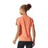 adidas Women's D2M 3 Stripe T-Shirt - Easy Coral: Image 5