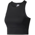 adidas Women's Speed Crop Tank Top - Black: Image 1