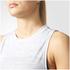 adidas Women's Boxy Melange Tank Top - White: Image 6