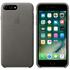 Étui en Cuir pour iPhone 7 Plus -Gris Tempête: Image 1