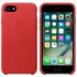 Étui en Cuir pour iPhone 7 -Rouge: Image 1