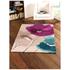 Flair Infinite Mod Rug - Art Poppy Flowers Teal/Purple: Image 1