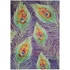 Flair New Jersey Rug - Print Peacock Chenille Multi: Image 2