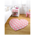 Flair Kiddy Play Rug - Polka Heart Pastel Pink(90X90): Image 1