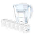 12 Month Bundle - Aqua Optima Galia Jug Plus 6 Cartridges 2.25L - White: Image 1