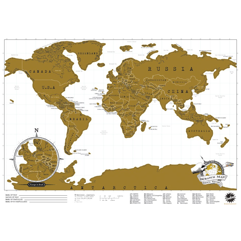 Travel Edition Scratch Map – World Map Gifts For Travelers