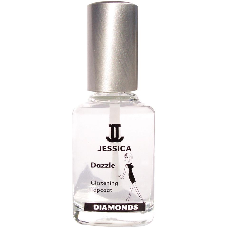 Jessica Diamonds Dazzle Topcoat (15ml) | Free Shipping | Lookfantastic