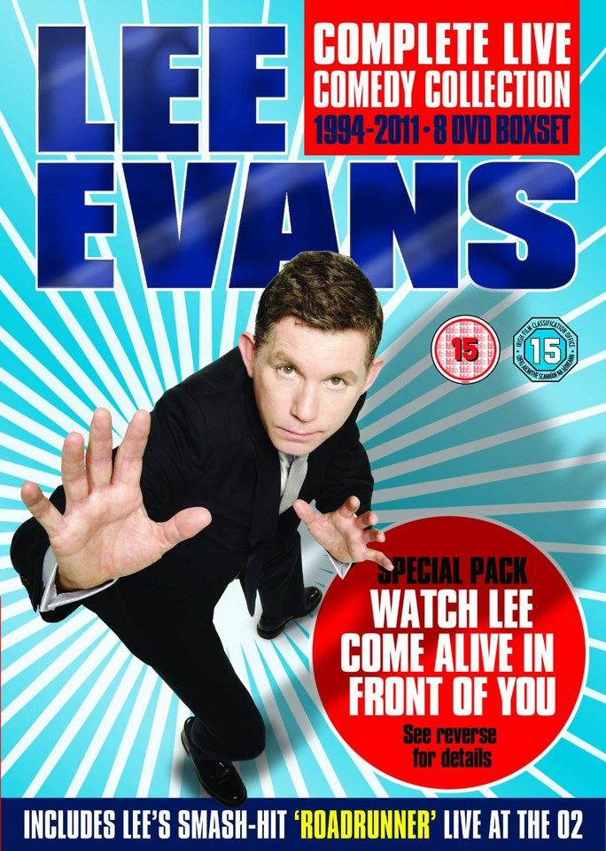 Lee Evans Complete Live Comedy Collection Special Pack
