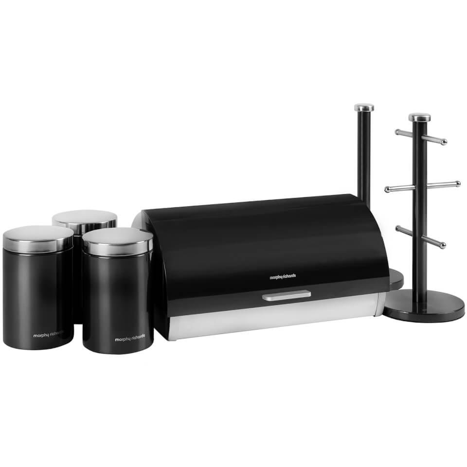 Black Kitchen Accessories Argos: Morphy Richards 974101 6 Piece Storage Set