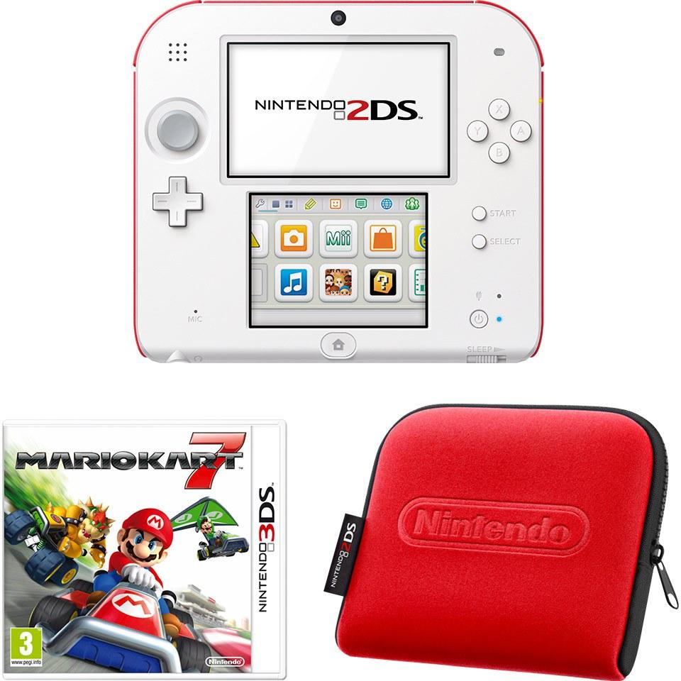 Nintendo 2ds white red console bundle includes mario kart 7 nintendo official uk store - Mario kart 8 console bundle ...
