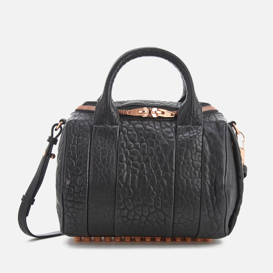 alexander wang womens rockie pebble leather bag black