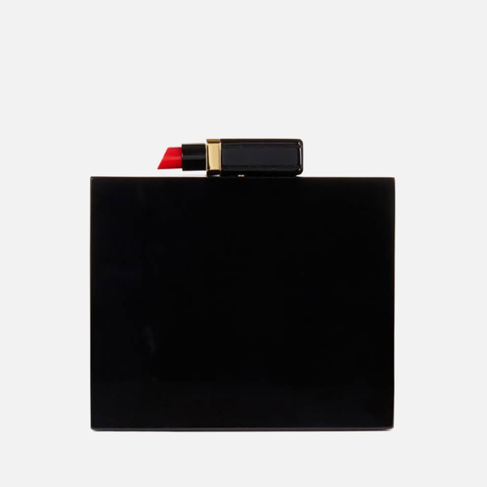 0622f1c3bf Lulu Guinness Chloe Perspex Lipstick Clutch - Black