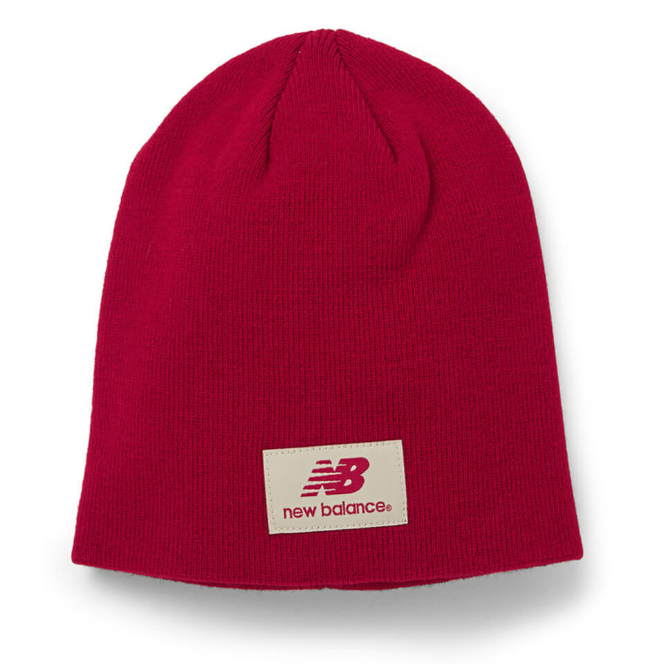 New Balance Unisex Slouch Beanie - Acrylic Red | Hovedbeklædning