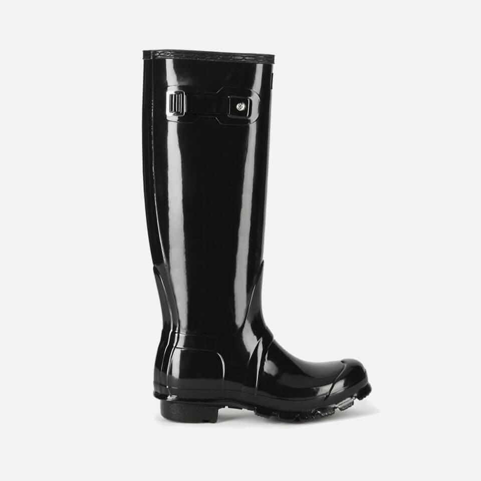 Hunter Women s Original Tall Gloss Wellies - Black Womens Footwear ... 8a8cb46e19