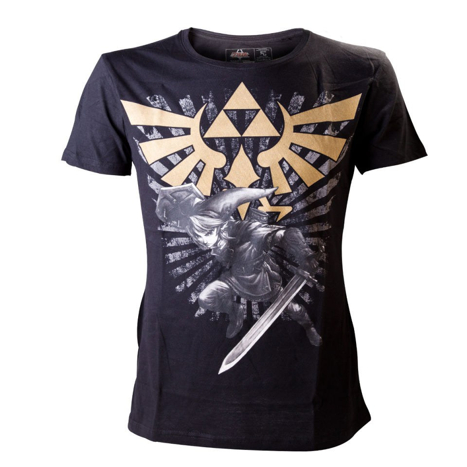 The Legend Of Zelda With Link T Shirt Nintendo Official Uk Store