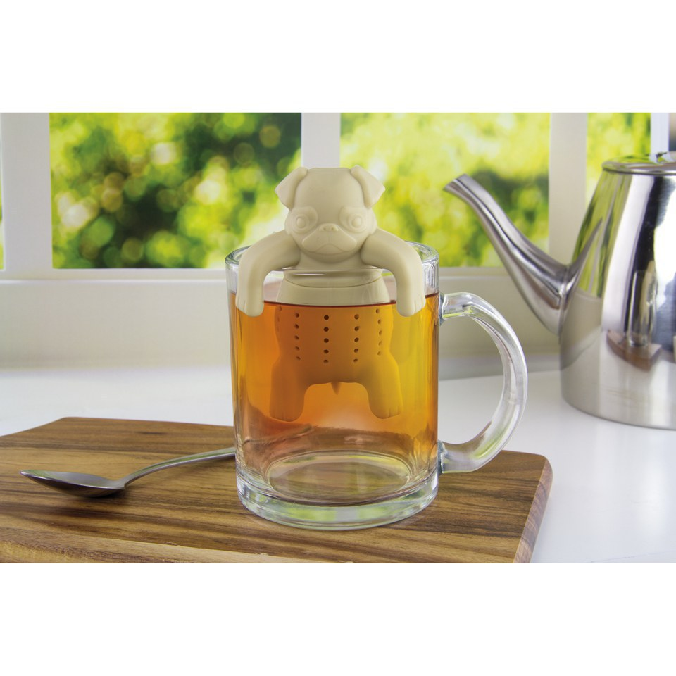 pug in a mug tea infuser iwoot. Black Bedroom Furniture Sets. Home Design Ideas