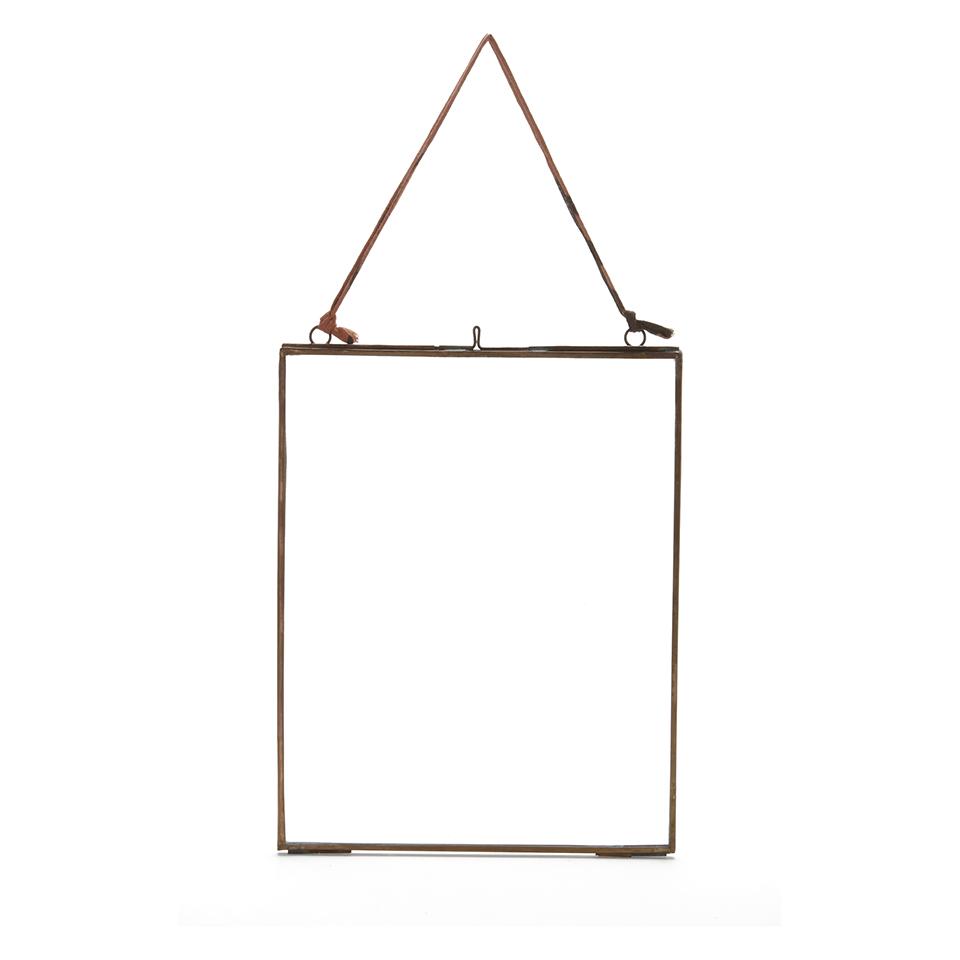 Nkuku Kiko Glass Frame - Antique Copper - Portrait 8\