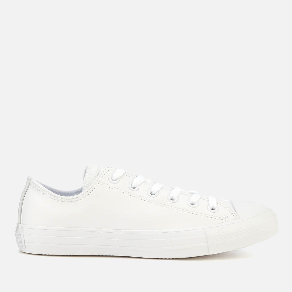 Converse Chuck Taylor All Star Ox Leather Trainers - White Monochrome