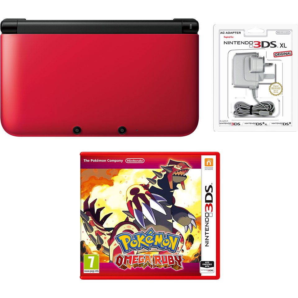 Nintendo 3ds Xl Red Black Pok 233 Mon Omega Ruby Pack