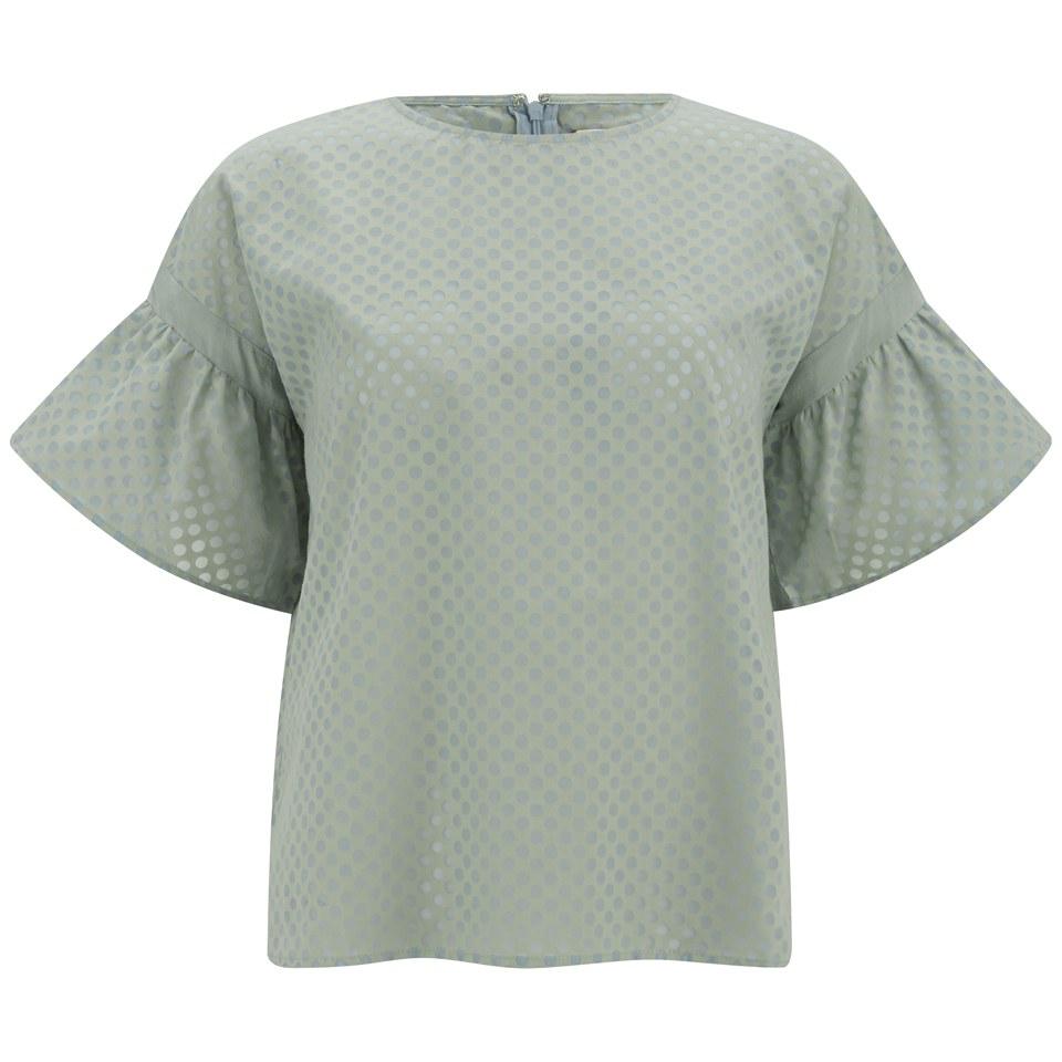 Custommade women 39 s clausine blouse jadite green free for Staples custom t shirts