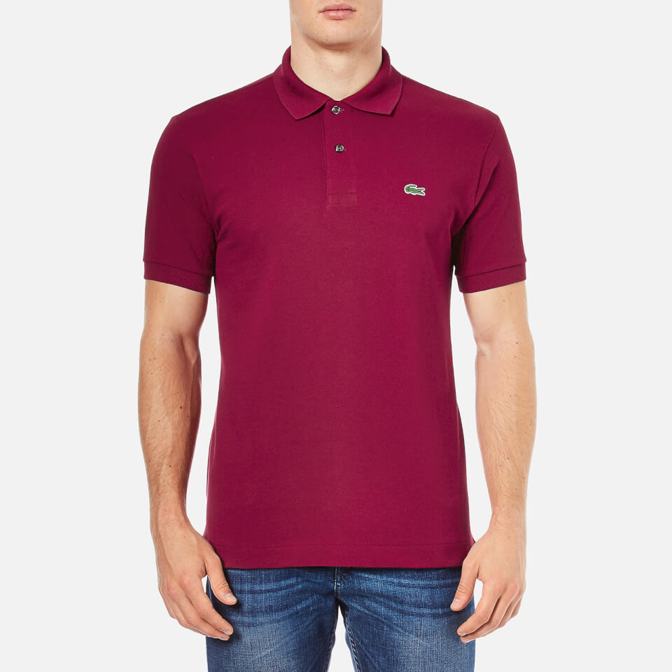 Lacoste men 39 s polo shirt bordeaux clothing for Mens polo shirts online