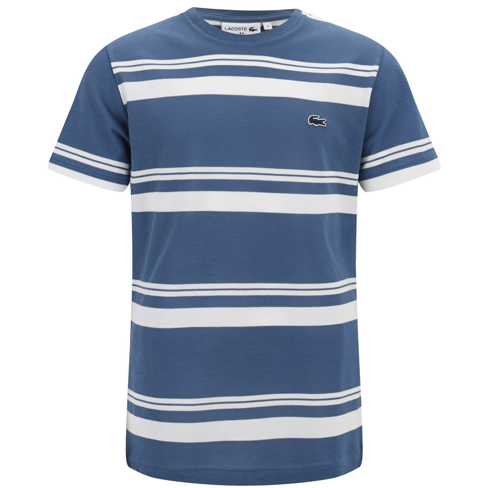 lacoste men 39 s 39 made in france 39 crew neck t shirt admiral blue free uk delivery over 50. Black Bedroom Furniture Sets. Home Design Ideas