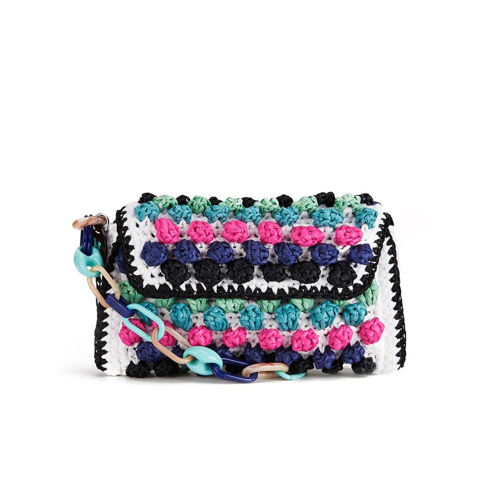 75e89c98e896 M Missoni Women s Raffia Shoulder Bag - Blue - Free UK Delivery over £50