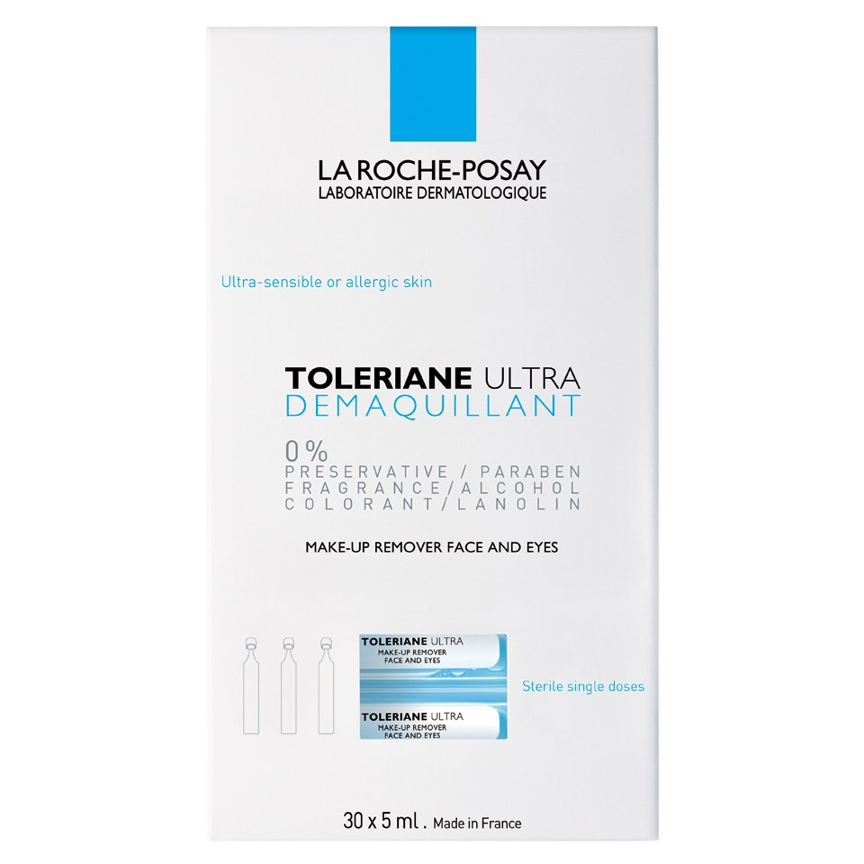 la roche posay toleriane monodose make up remover x30. Black Bedroom Furniture Sets. Home Design Ideas