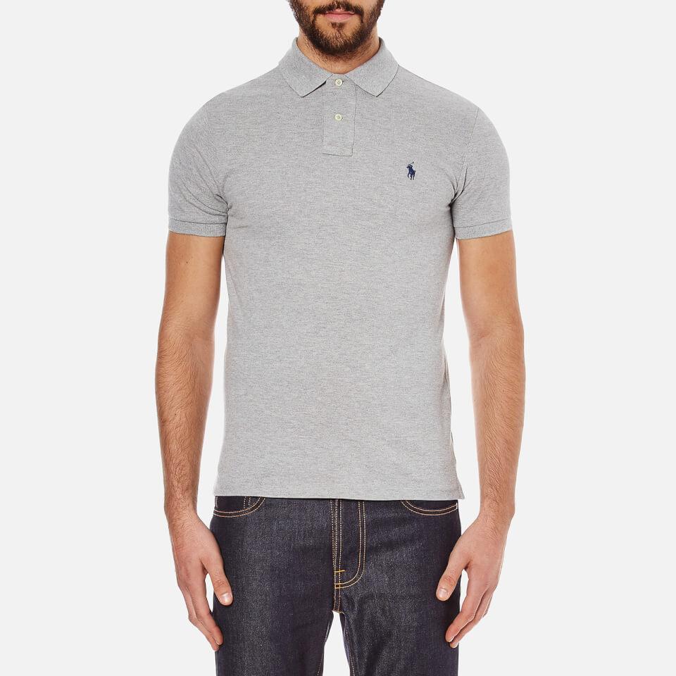 Andover Short Sleeved Men's Shirt Ralph Polo Heather Lauren Slim Fit RjLA54