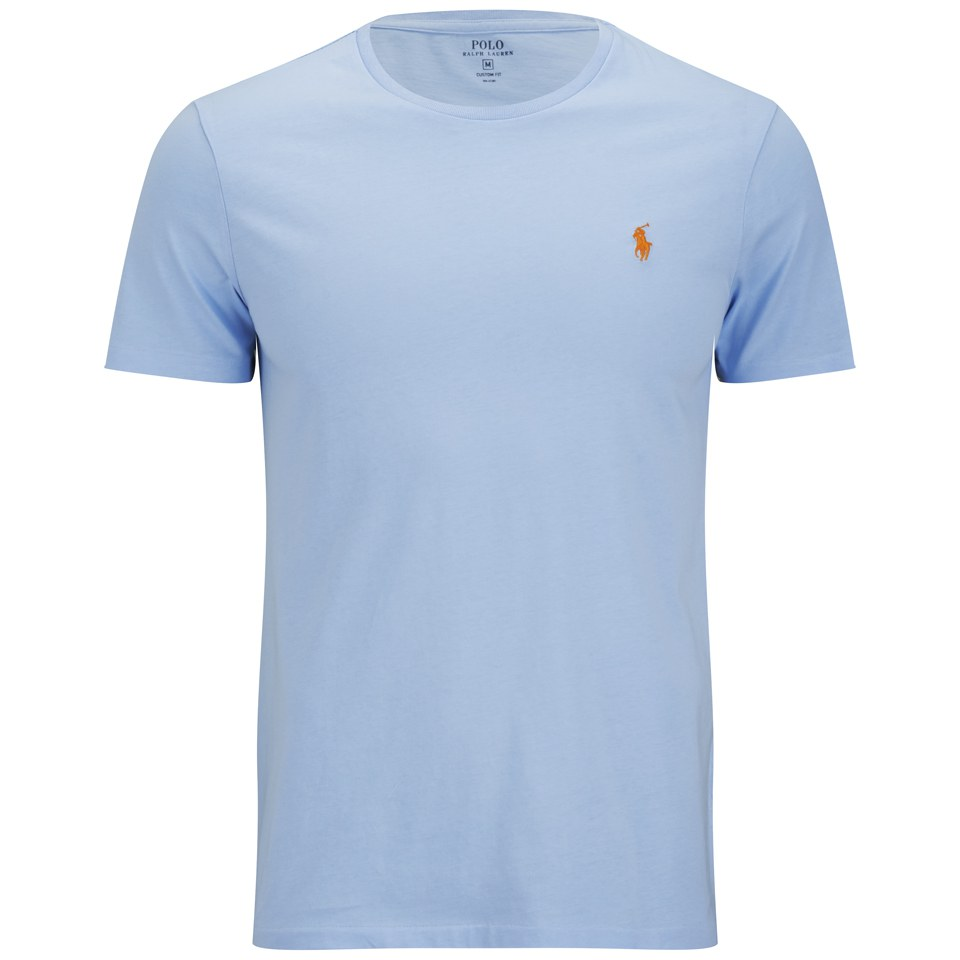 Polo Ralph Lauren Men s Custom Fit Crew Neck T-Shirt - Blue Bell - Free UK  Delivery over £50 db0eeb0e6e07
