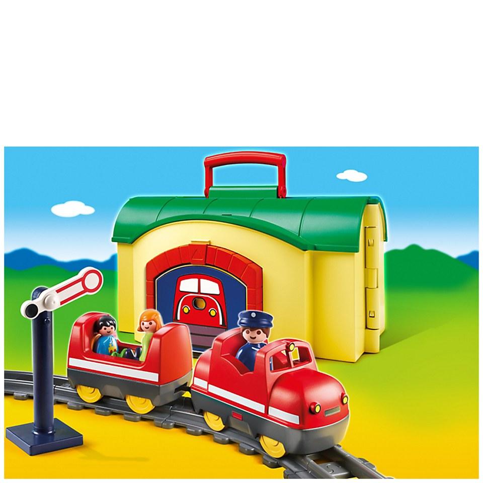 Playmobil 1 2 3 my take along train 6783 iwoot - Train playmobil ...