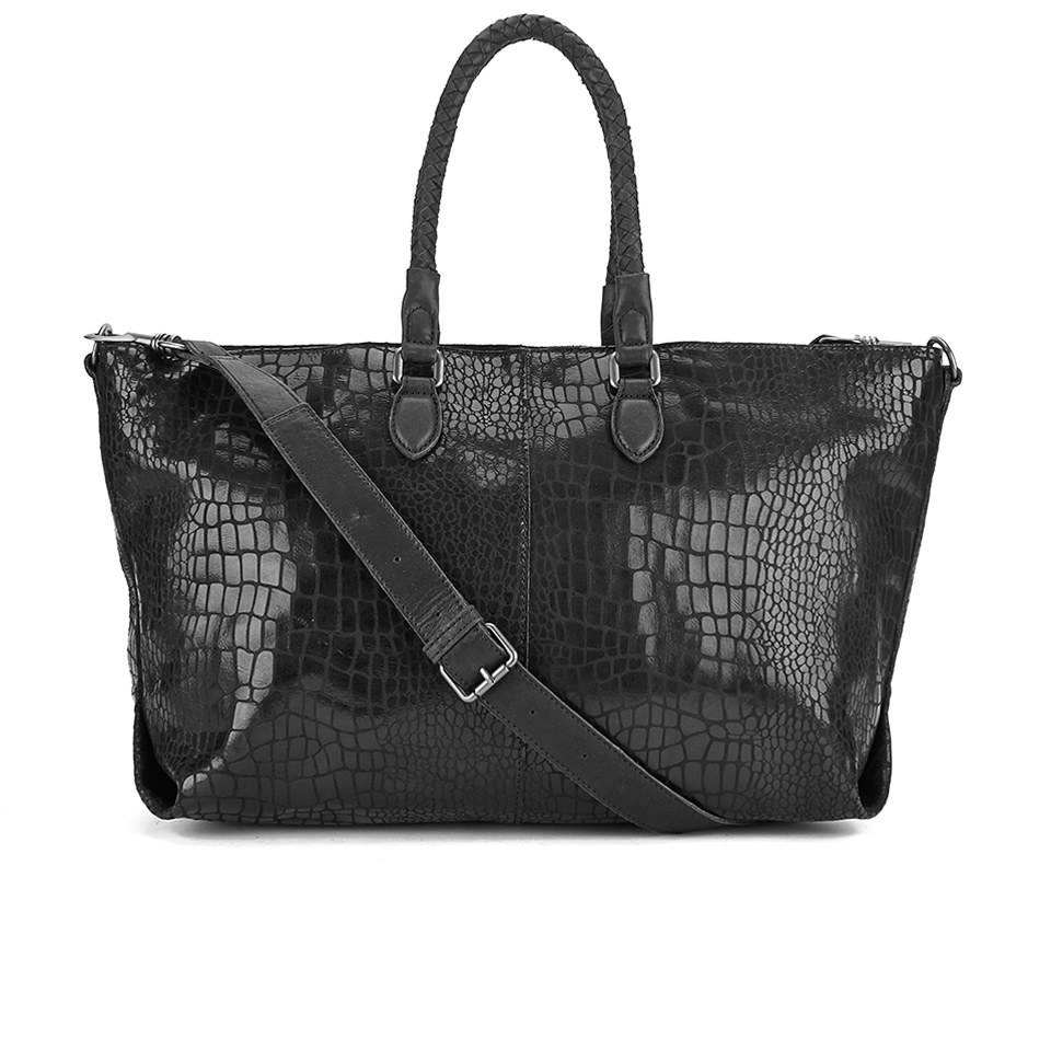 liebeskind women 39 s chelsea croc tote bag black womens accessories. Black Bedroom Furniture Sets. Home Design Ideas