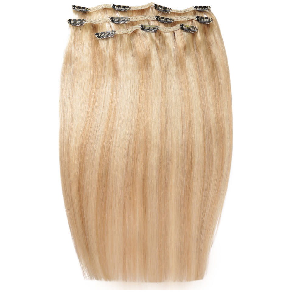 Beauty works deluxe clip in hair extensions 18 inch champagne beauty works deluxe clip in hair extensions 18 inch california blonde 61316 pmusecretfo Images